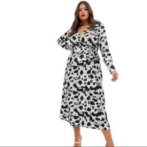 NEW! ASOS Curve wrap Maxi Dress